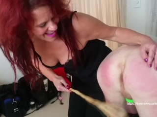 Mother is a Femdom who anal trained her son to take big cock