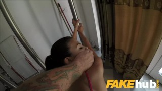 Public Agent Facial and hard public fucking for cheating American babe Jenkins bondage