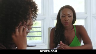 Dyked - Sexy Chanel Heart Seduced & Fucked By Misty Stone On tits