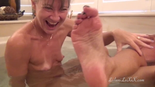 Young BBC n 2 Hot Milfs at Bath Time