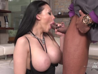 Kinky ebony hottie with big boobs gets nailed shitless