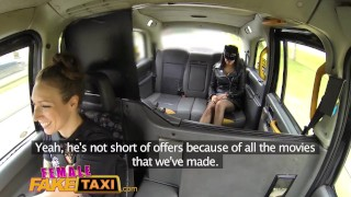 Female Fake Taxi Masked horny minx in slutty fishnets cheats on hubby Tattoo fake