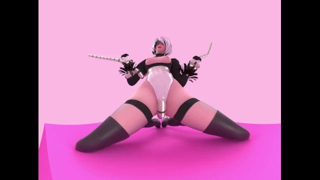 3d small tits Nier automata 2b tentacles 4k vr animation by likkezg