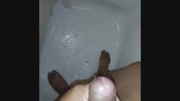 Me cumming in the shower