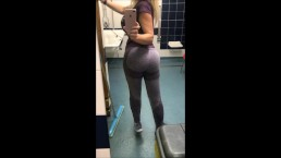 Fingering my asshole in the swimming pool changing rooms