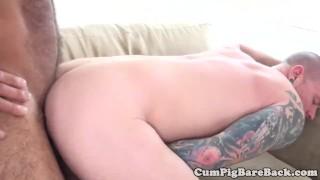 Fucked bear stud tattooed a by bareback anal closeup