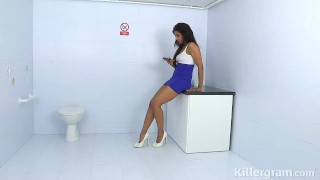 Killergram Miya Rai in hot threesome gloryhole sex
