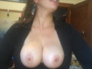 Shy Asian Blowjob & Cum on Big Natural Tits (College Exgf BJ & Cumshot!)