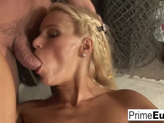 Redtube threesomes oriental girl cute blonde nikki sun takes two cocks primeeuro ass fuck european 3