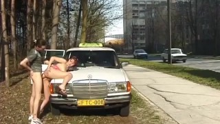 Anal taxi sex on public street