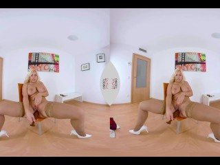 VIRTUAL TABOO – Busty Fesser with Dildo In Her Tight Pussy