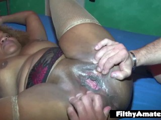 BBW White and BBW Black! Filthy Orgy with anal pen!