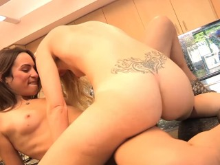 Big Booty Lesbian Teens Have Hot Sex WHile Mom Is Away