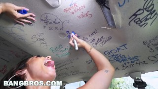 Monroes booty bang part reverse bus  bangbros kelsi latina big outside booty