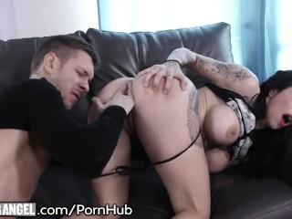 Sexy Blonde Takes Out Her Tits And Sucks Cock