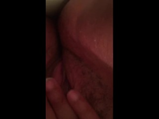 Glising pussy juices