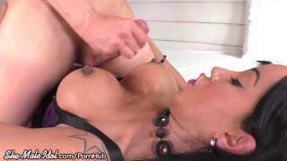 Trans stud goddess raw fucked busty by trans fuck