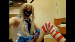 Shimakaze crossplayer body exposed
