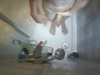 boy in shower
