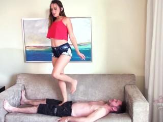 Ashlynn Taylor Hard Trampling & facestanding Brattyfootgirls.com