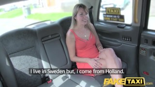 Taxi short in taxi gets fake dress creampie lady a faketaxi car