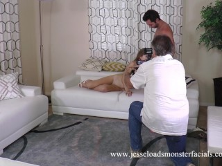 Alyce Anderson blowjob photoshoot bts including facial