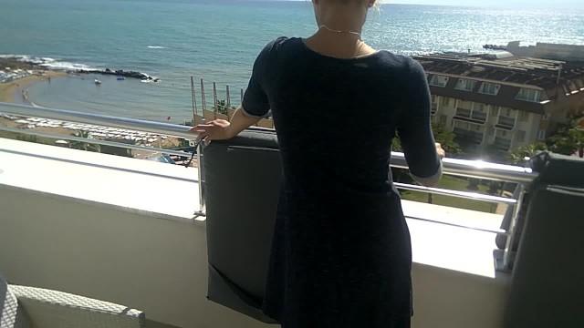 Synny day porn tube - Sunny day anal fuck on hotel balcony