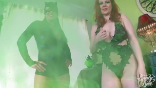 Mallory catwoman ivy lady sierra fyre poison batman by fucked unmasked dc kink