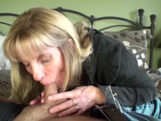 54 Year Old Petite MILF Sucks A 21 Year Old Pornhub Member