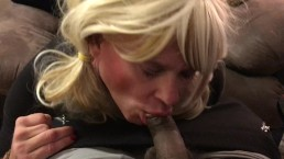 Sensual blow job on HUGE BBC