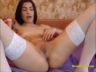 Webcam slutty babe drilled her ass and pussy with dildo