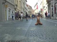 Sweet Teen Drahomira Naked In Public