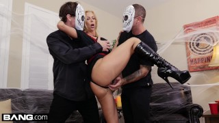 Treat stepson her a bang gives halloween alexis confessions fawx squirting fawx