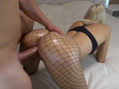 Striptizmasturbatsiya sexy blonde in erotic lingerie