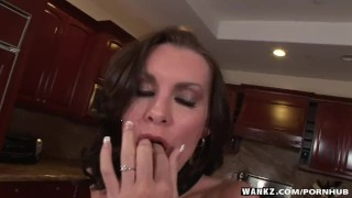 Fucks brunette hottest finger wankz herself big boobs