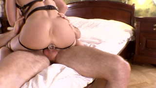 My new seductive outfit made him cum in my ass too quickly. Mia Bandini Rubbing ass