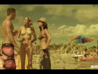 Cody Horn en Olivia Munn in de film Magic Mike