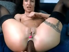 28 Oct 2017 - A huge black dildo in my anus