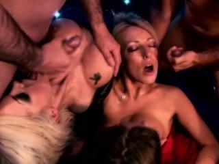Big TIt Blonde Slut DELTA WHITE & Brooke Jameson Get Fucked By Criminal