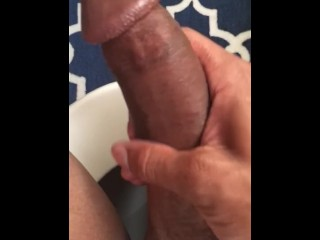 Getting my huge cock ready for my girls wet pussy lips