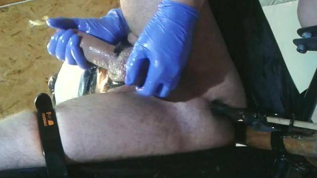 Sexmachines cum - Femdom bondage cock massage and anal sexmachine