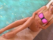 DDFNetwork VR - Cherry Kiss Masturbates in the Sauna for you in VR