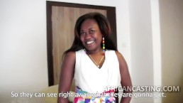 Big ass African slut at casting call
