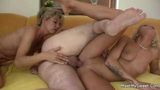 Naughty parents seduce and fuck son's girlfriend