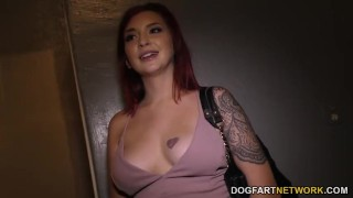 Amber Ivy Tries BBC Anal - Gloryhole  big black cock ass fuck big ass big tits big cock redhead gloryhole pornstar fetish hardcore interracial dogfartnetwork butt anal big boobs glory hole