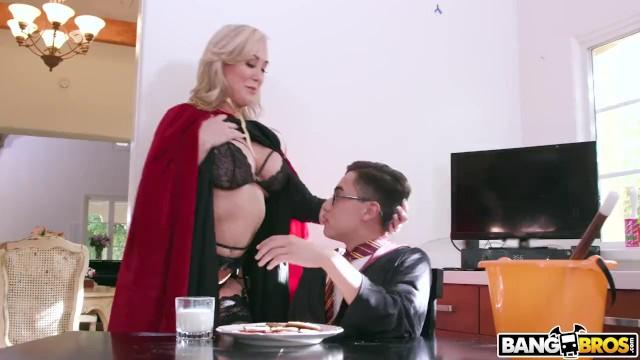 Bangbros - Halloween Threesome With Milf Brandi Love And -3734
