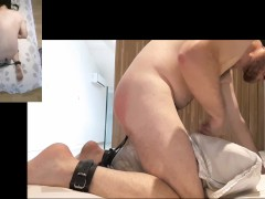Pain and pleasure - painful butt plug, spanking / flogging, end in soft cum