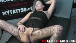 Jane 420 Showing Tattoo on her Sexy outfit
