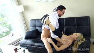 Fucking Her Dad FINALLY! Katie Banks ripped spandex face splattered Hot faketaxi