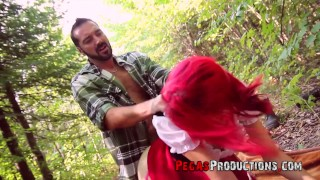 Little Red Riding Hood gets Fucked by the Big Bad Wolf for Halloween